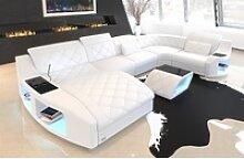 Sofa Dreams Sofa Swing, U Form weiß
