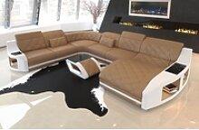Sofa Dreams Sofa Swing, U Form XXL gelb