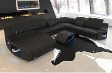 Sofa Dreams Sofa Swing, U Form XXL schwarz