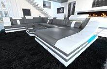 Sofa Dreams Sofa Turino, U Form XXL grau