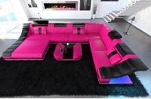Sofa Dreams Sofa Turino, U Form XXL rosa