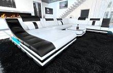 Sofa Dreams Sofa Turino, U Form XXL weiß