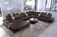 Sofa Dreams Sofa Venedig, U Form XXL braun