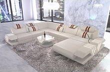 Sofa Dreams Sofa Venedig, U Form XXL gelb