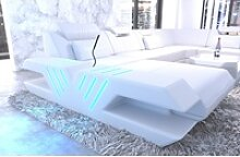 Sofa Dreams Sofa Venedig, U Form XXL weiß