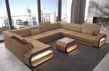Sofa Dreams Sofa Verona, U Form gelb