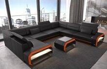 Sofa Dreams Sofa Verona, U Form schwarz