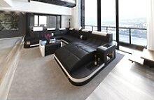 Sofa Dreams Sofa Wave, U Form XXL schwarz