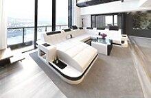 Sofa Dreams Sofa Wave, U Form XXL weiß