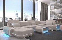 Sofa Dreams Wohnlandschaft Roma, U Form Ledersofa