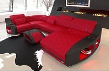 Sofa Dreams Wohnlandschaft Swing, U Form Ledersofa