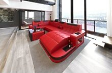 Sofa Dreams Wohnlandschaft Wave, U Form Ledersofa