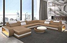 Sofa Dreams XXL Leder Wohnlandschaft Berlin U Form