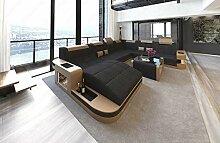 Sofa Dreams XXL Stoffsofa Wohnlandschaft Wave mit