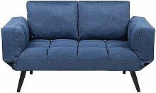 Sofa Dunkelblau Polsterbezug 2-Sitzer
