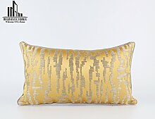 Sofa einfache gelbe geometrische Kissen Schlafzimmer Mode Dekoration Kissen, 30X50cm