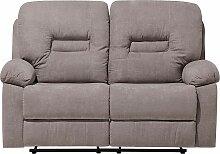 Sofa Grau-Braun Polsterbezug 2-Sitzer