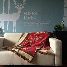 Sofa-Handtuch/Stoff Gartensofa Baumwolltuch/ Decke-A 230x250cm(91x98inch)