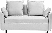 Sofa Hellgrau Polsterbezug 2-Sitzer Schlaffunktion