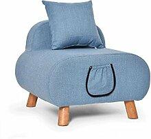 Sofa Hocker Tuch Single Sofa Creative Casual Lazy Sofa Stuhl Massivholz Für Schuh Hocker Schemel