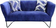 Sofa in Blau Stoff modern
