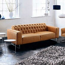 Sofa in Braun Factory Design