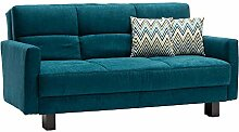 Sofa in Petrol Schlaffunktion Breite 145 cm Pharao24