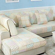 Sofa Kissen Anti-Rutsch-Tuch Vier Jahreszeiten Sofa Sitzkissen Sofa Handtuch ( größe : 110*110cm )