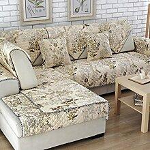 Sofa-Kissen Baumwolltuch Sofa Kissen Anti-Rutsch-Kissen Sofa Handtuch ( größe : 70*70cm )