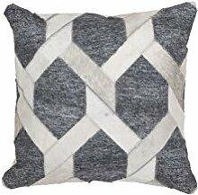 Sofa-Kissen Dekokissen modern Design Couch Chimera Pillow 110 Rauten Muster Viskose 45x45 cm Beige/ Zierkissen günstig online kaufen
