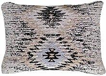 Sofa-Kissen Dekokissen modern Design Couch Solitaire Pillow 210 Rauten Muster Baumwolle 40x60 cm Beige/ Zierkissen günstig online kaufen