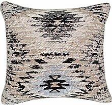 Sofa-Kissen Dekokissen modern Design Couch Solitaire Pillow 210 Rauten Muster Baumwolle 45x45 cm Beige/ Zierkissen günstig online kaufen