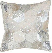 Sofa-Kissen Dekokissen modern Design Couch Spark Pillow 210 Rauten Muster Leder 45x45 cm Grau/Zierkissen günstig online kaufen