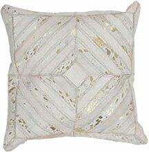 Sofa-Kissen Dekokissen modern Design Couch Spark Pillow 410 Rauten Muster Leder 45x45 cm Beige/ Zierkissen günstig online kaufen