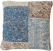 Sofa-Kissen Dekokissen modern Design Couch Symphony Pillow 160 Patchwork Muster Baumwolle 40x60 cm Blau/Zierkissen günstig online kaufen