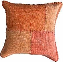 Sofa-Kissen Dekokissen Vintage Design Couch Lyrical Pillow 210 Patchwork Muster Baumwolle 45x45 cm Mehrfarbig/ Zierkissen günstig online kaufen