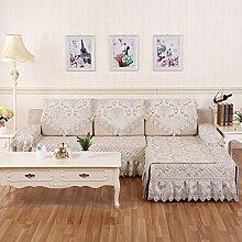 Sofa-Kissen/Europäische Plüsch Sand-ProofNet/[Rückenlehne Handtuch]-D 90x180cm(35x71inch)