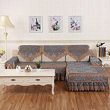 Sofa-Kissen/Europäische Plüsch Sand-ProofNet/[Rückenlehne Handtuch]-A 90x240cm(35x94inch)