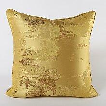 Sofa Kissen Kissen Modernes Kissen Bett, 50x50cm, golden