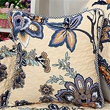 Sofa Kissen kit reine Baumwolle kunst Kissen chip-Kissen Kissen continental Bett auf Sie Kit, 60 x 60 cm, Blumen