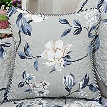 Sofa Kissen kit reine Baumwolle kunst Kissen chip-Kissen Kissen continental Bett auf Sie Kit, 60 x 60 cm, Kräuter zu setzen