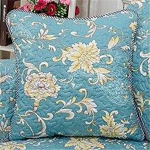 Sofa Kissen kit reine Baumwolle kunst Kissen chip-Kissen Kissen continental Bett auf Sie Kit, 45 x 45 cm, blau festlegen
