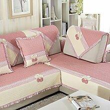 Sofa-kissen,kleine, frische baumwolle mit vier seitlichen polstern-B 90x160cm(35x63inch)