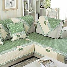 Sofa-kissen,kleine, frische baumwolle mit vier seitlichen polstern-A 70x180cm(28x71inch)
