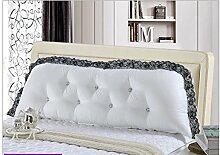 Sofa Kissen Nachtkissen Baumwolle Korean großen Sofa-Bett Kissen Kissen Kissen Korean Baumwolle mit langen Doppelbett große Rückenlehne Kern enthält, Haushalt Kissen Büro Lendenkissen ( Farbe : K , größe : L )