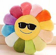 Sofa Kissen Nachtkissen Bunte Blumen Sonnenblumen Kissen Büro Kissen Kissen Gesicht valentine Haushalt Kissen Büro Lendenkissen ( Farbe : A , größe : S )