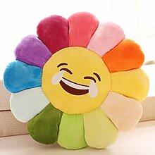 Sofa Kissen Nachtkissen Bunte Blumen Sonnenblumen Kissen Büro Kissen Kissen Gesicht valentine Haushalt Kissen Büro Lendenkissen ( Farbe : D , größe : M )