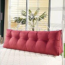 Sofa Kissen Nachtkissen Doppel-Dreieck Kissen Abnehmbare Bett-Kopf-Kissen Sofa vergrösserte Rückseite Bett Kissen Büro Kissen Haushalt Kissen Büro Lendenkissen ( farbe : # 1 , größe : 100*50*20cm )