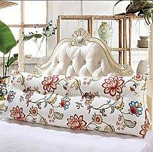 Sofa Kissen Nachtkissen Doppeldreiecksteller Paar großes Bett Kopfstütze Kissen Student Taille durch Paket waschbar Haushalt Kissen Büro Lendenkissen ( größe : 90*50*23CM )
