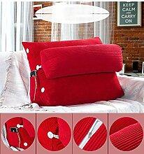 Sofa Kissen Nachtkissen Dreieck Sofa Kissen Nachttisch mit Kopfkissen Kopfstütze Taille Bürostuhl Rückenlehne waschbar Haushalt Kissen Büro Lendenkissen ( Farbe : K , größe : Size45*25*50cm )